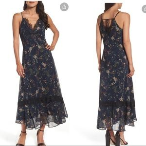 Chelsea28 Navy Spring Floral Lace Slipdress Maxi S
